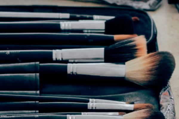 wearing makeup