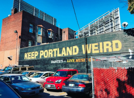 FROM PORTLAND: PEOPLE TALK TO YOU HERE AND IT IS WEIRD